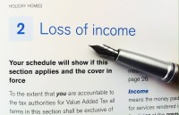 Loss of income cover -holiday home insurance