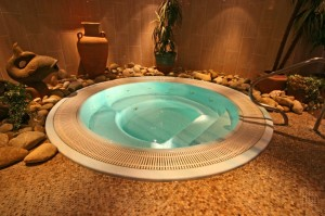 hot tub at holiday home