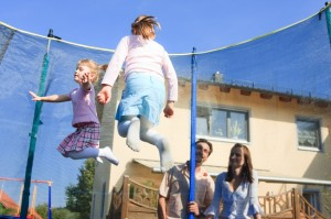 holiday home trampoline