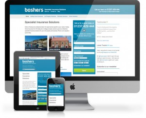 Boshers insurance all new web design - same friendly team