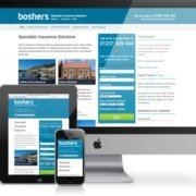 Boshers website as displayed on a range of devices
