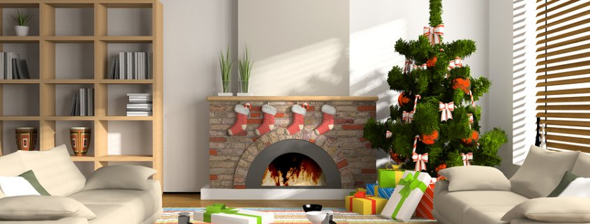 Christmas holiday home interior